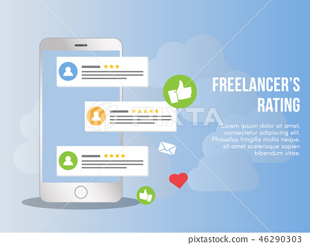 Freelancer rating concept illustration vector  46290303