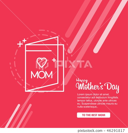 Happy Mother's Day Calligraphy Background 46291817