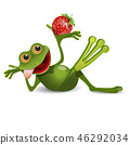 Stock Illustration Frog with Strawberry 46292034