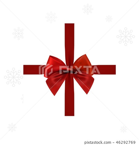 Christmas card woth red ribbon 46292769