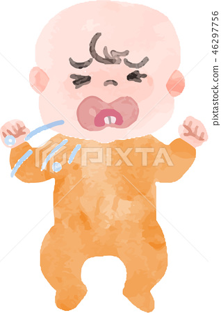 Baby coughing 46297756
