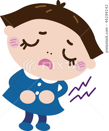 Stomachache _ girl (illness 3) 46299142