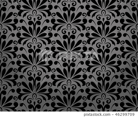 Flower geometric pattern. Seamless background.  46299709