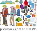 등산 남녀의 옷차림과 아이템 46300395