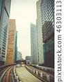 Monorail in Tokyo city, Japan 46303113