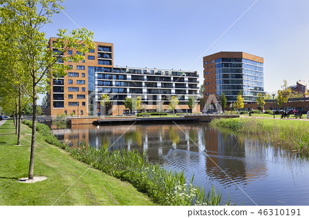 Middle class suburb apartments in the Netherlands 46310191