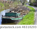 Willow branches on a pontoon in Reeuwijk 46310203