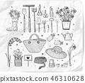 garden, doodle, vector 46310628