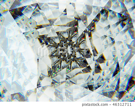 Gemstone or diamond texture closeup kaleidoscope 46312711