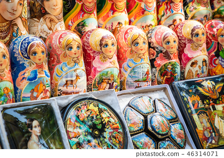 Nested dolls in the souvenir from Ukraine. 46314071