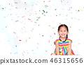 กระดาษตกแต่งงานรื่นเริง,เด็ก,สาว 46315656
