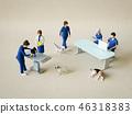 獸醫和工作人員 46318383