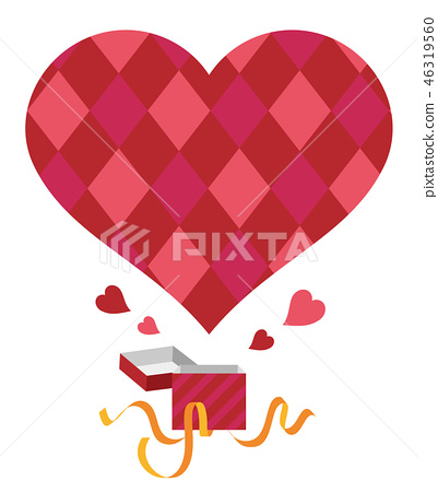 Present box heart 46319560