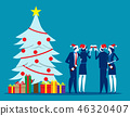 Christmas with friends. Concept business  46320407