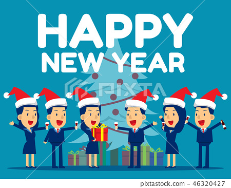 Happy New Year. Concept business vector 46320427