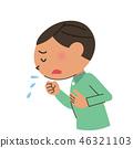 咳嗽 寒冷 感冒 46321103