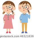 เด็กผู้ชาย,เด็กผู้หญิง,แว่นขยาย 46321636