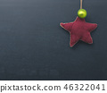 Christmas background with chalkboard and a star  46322041