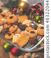 Tasty homemade cookies with Christmas decoration 46322044
