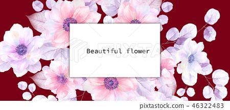 美麗的水彩花卉 46322483