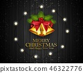 Merry Christmas and happy new year card 46322776