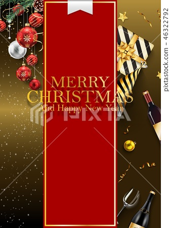 Merry Christmas And 2019 Happy New Year background 46322792
