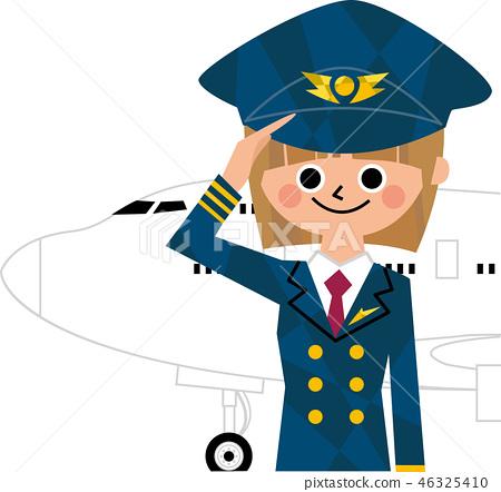 여성 파일럿 46325410
