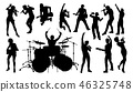 musician, band, silhouette 46325748