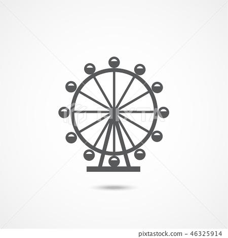 London Ferris Wheel Icon 46325914