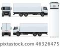 vector, truck, template 46326475