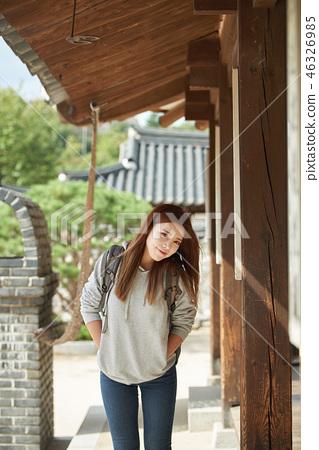 젊은여자,여성,남산골한옥마을,여행,학생 46326985