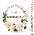 christmas rose frame 46327101