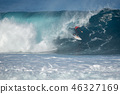 surfer in the big wave , competition quemao class 46327169