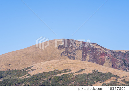 日本 九州 阿蘇 火山 芒草 熊本 aso mountain volcano 46327892