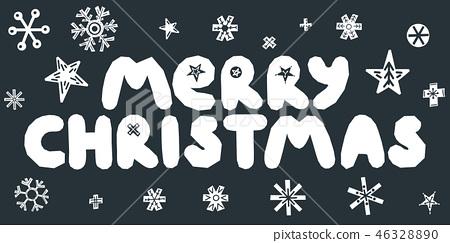 Merry Christmas caption. Vector illustration. 46328890