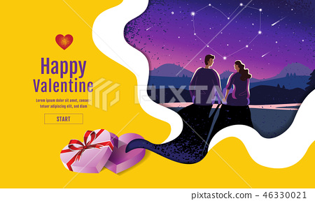Lovely couple ,Valentine's day ,festival 46330021