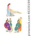 Spa Salon Hairdressers Hair Styling Set Vector 46330194