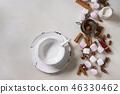 White pink marshmallow 46330462