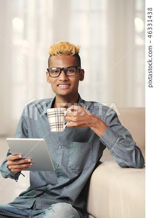 Handsome Black Guy Stock Photo 46331438 Pixta
