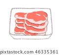 돼지 등심 46335361