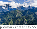 Mountain with blue sky and clouds 46335727
