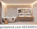 bathroom, interior, 3d 46336850