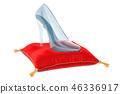 Cinderella crystal high heel, glass slipper 46336917