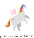 Cute unicorn. Fairytale animal 46340051