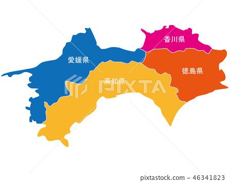 四國地圖 46341823
