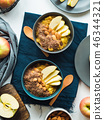 Cozy Breakfast food concept with turmeric amaranth 46344321