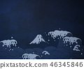 Japanese paintings that feel the texture of Japanese paper 46345846