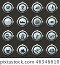vector, icon, ball 46346610