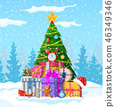 Christmas background with forest 46349346