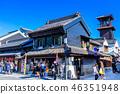 Saitama Kawagoe Cityscape and time bells 46351948